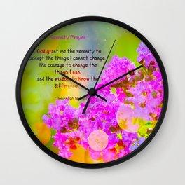 Serenity Prayer - II Wall Clock