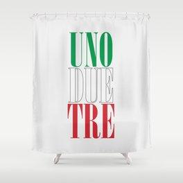 UNO DUE TRE Shower Curtain