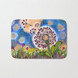Hold Me Gently ~ Like a Dandelion Bath Mat