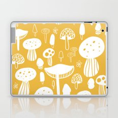 Forest Mushrooms Yellow Laptop & iPad Skin