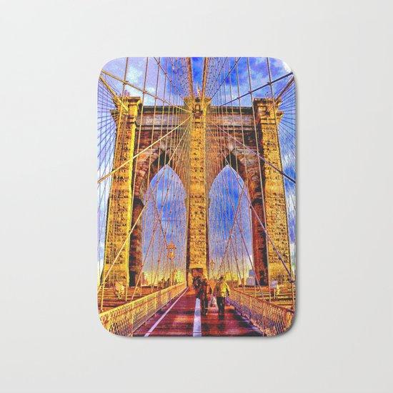 Brooklyn bridge NY Bath Mat