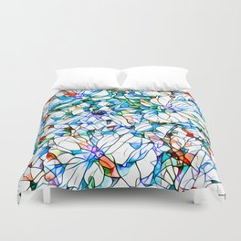 Glass stain mosaic 3 floral - by Brian Vegas Duvet Cover