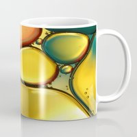 oil Mugs featuring Oil & Water Abstract II by Sharon Johnstone