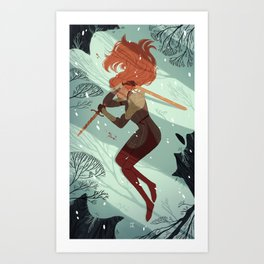 2 of Swords Art Print