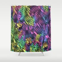 psychedelic Shower Curtains featuring Psychedelic by Dorothy Pinder