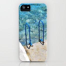 256. Sea Swimming Pool, Greece iPhone Case