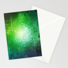 Abstract Deep Space Portal Blue-Green Stationery Cards