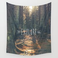 explore Wall Tapestries featuring Explore by grafik ' prod