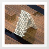 3d Art Prints featuring 3d by Posticks