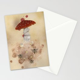 Bee agaricic Stationery Cards