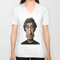 celebrity V-neck T-shirts featuring Celebrity Sunday ~ Al Pacino by rob art | illustration