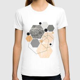 Orange Hexagon, Scandinavian Art T-shirt