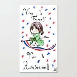 Vive la Révolution! Canvas Print