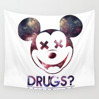 mouse Wall Tapestries featuring mouse by jeff'walker