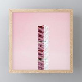 Pink Pillar Framed Mini Art Print