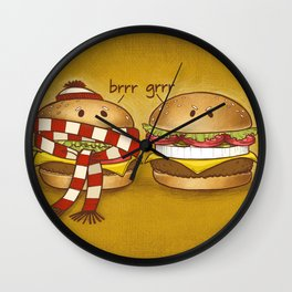 Fast Food Phonics Wall Clock