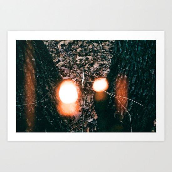 You Left the Lights On Art Print