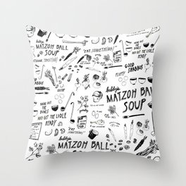 Matzoh Ball Soup Throw Pillow