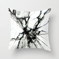 broken Throw Pillows featuring Broken by Biba Kayewich