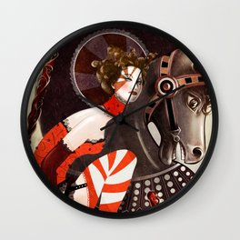 Amanda Palmer Six of Wands Wall Clock