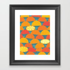 Squeeze Me.Teal Framed Art Print
