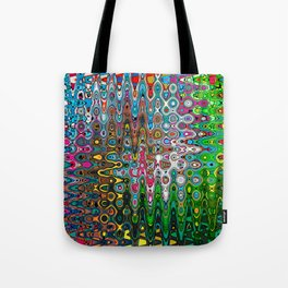 Vibrant Hippie Wiggly Pattern Tote Bag