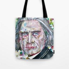 FRANZ LISTZ - watercolor portrait.1 Tote Bag