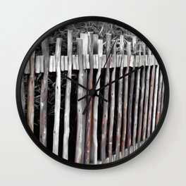 Primitive Stick Fence Wall Clock