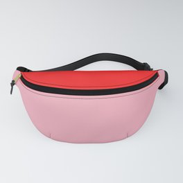 Watermelon Red & Peach Pink Fanny Pack