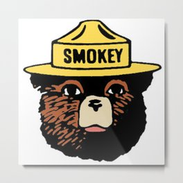 SMOKEY THE BEAR Metal Print