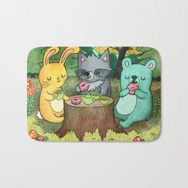 Woodland Animal Picnic Bath Mat