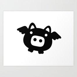 Pigs Will Fly (b&w) Art Print