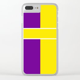Team Colors 6....Yellow,purple Clear iPhone Case