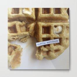 waffle mornings Metal Print