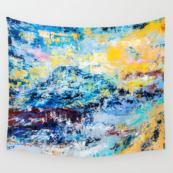 Visionary mountain Wall Tapestry
