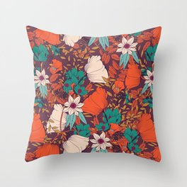 Botanical pattern 010 Throw Pillow