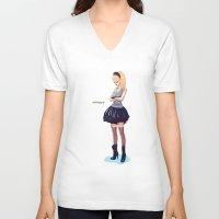 comic V-neck T-shirts featuring Comic by monoguru
