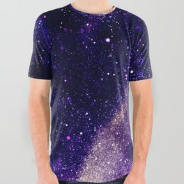 Ultra violet purple abstract galaxy All Over Graphic Tee