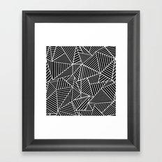 Ab Lines Black on White Framed Art Print