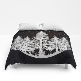 Trees in a Winter Forest Comforters
