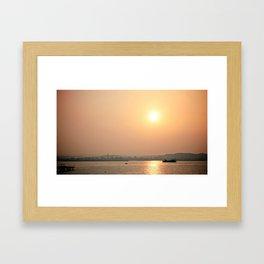 kagoshima sunset Framed Art Print
