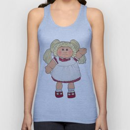 Cabbage Patch Doll on White Unisex Tank Top