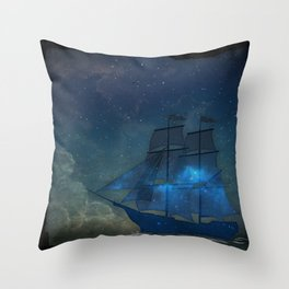 Ships and Stars Throw Pillow