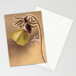 Spring impression with pasque flower Stationery Cards