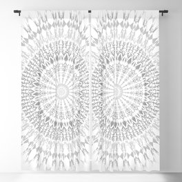 Gray White Mandala Blackout Curtain