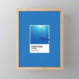 Pantone Series – Deep Diving Framed Mini Art Print