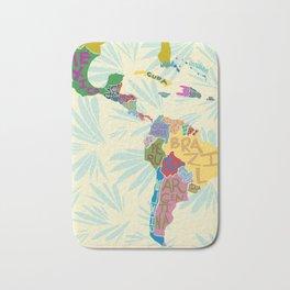 Map. Mapa. Carte. Bath Mat