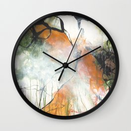 Thicket  - Square Abstract Expressionism Paintng Wall Clock