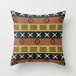 African mudcloth Throw Pillow