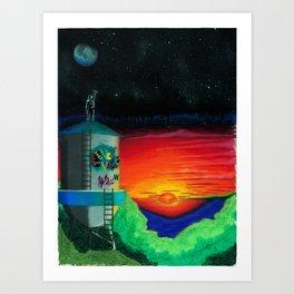 Graffiti Nights Art Print